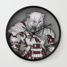 Fenris the DireWolf  Wall Clock