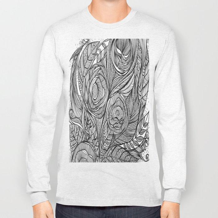 Garden of fine lines Long Sleeve T-shirt