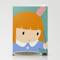 beth hoeckel Stationery Cards featuring Beth Oblong by justcharlotte