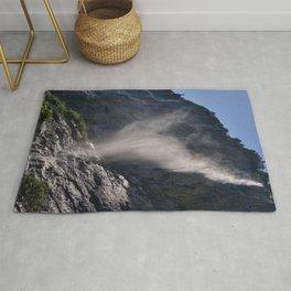 The Ghost. Lauterbrunnen Waterfalls. Alps. Switzerland Rug