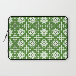 Green and white medallions Laptop Sleeve