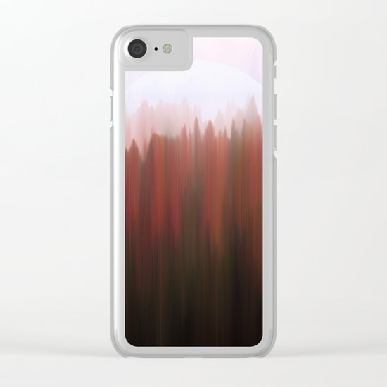 Forest Moon Clear iPhone Case