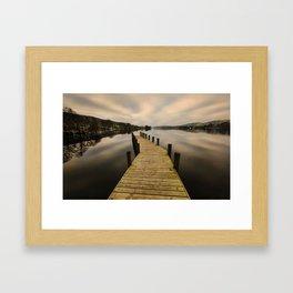Coniston Jetty Framed Art Print