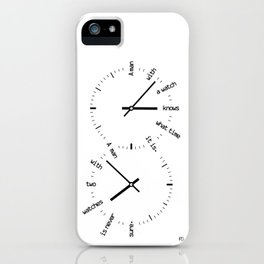 Two Watches iPhone Case