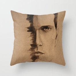 HALF FACE Throw Pillow