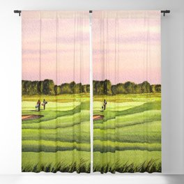 Royal Saint Georges Golf Course 9th Hole Blackout Curtain
