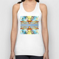 sci fi Tank Tops featuring Sci Fi Horizons by Phil Perkins