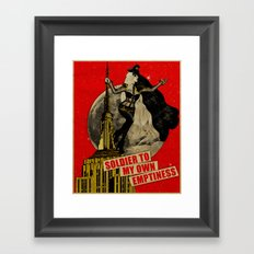 Soldier To My Own Emptiness Framed Art Print