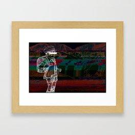 """I Was Late For School""        Framed Art Print"