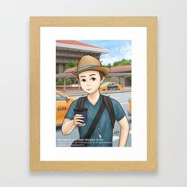 Backpack Sir Sir at Taipei Main Station Framed Art Print