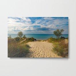Indiana Dunes State Park Beach Lake Michigan Sky Metal Print