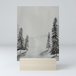 Snowy trees Mini Art Print