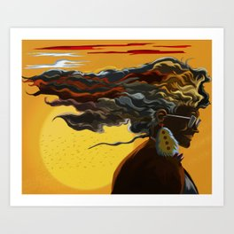 Queen's Sunset Art Print