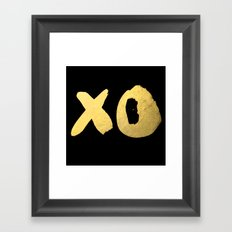 XO black Framed Art Print