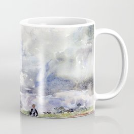 12,000pixel-500dpi - Thomas Hennell - Figures working in a field - Digital Remastered Edition Coffee Mug