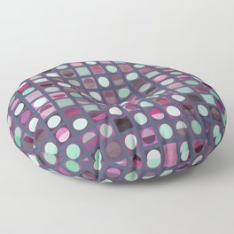 Circles and Squares 3 Floor Pillow
