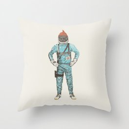 Zissou In Space Throw Pillow