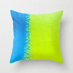 Blue Green Paint Throw Pillow