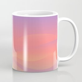 Pastel Gradient Ombre Pink, Purple, Yellow Whimsical Wavy Lines Coffee Mug