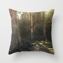 Olympic National Park - Pacific Northwest Nature Photography Throw Pillow