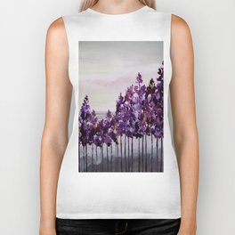 Purple Trees Biker Tank