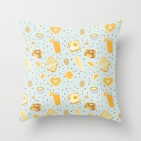 breakfast Throw Pillows featuring Breakfast by Ambi Sweetie Pie