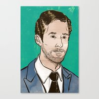 ryan gosling Canvas Prints featuring Ryan Gosling by Daniel Fishel