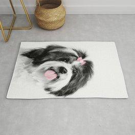 Dog print, Shih Tzu Print Rug