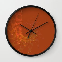 Tangerine Bliss Wall Clock