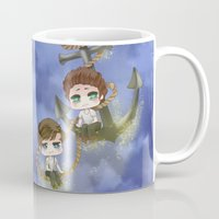 larry stylinson Mugs featuring Larry Stylinson - Anchor and rope by Yorlenisama