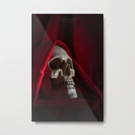 Red Death Metal Print
