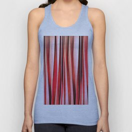 Red Adventure Striped Abstract Pattern Unisex Tank Top