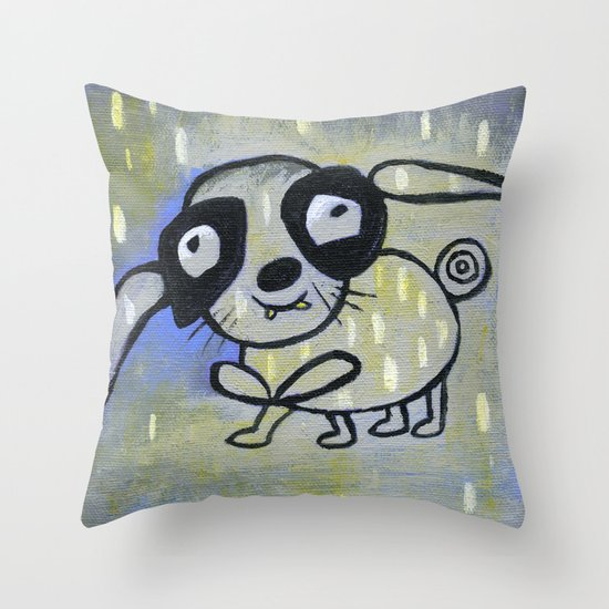 funny creature  Throw Pillow