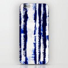 Tie-Dye Shibori Stripe Blue iPhone & iPod Skin