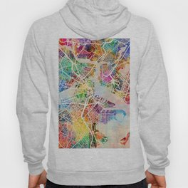 Boston Massachusetts Street Map Hoody