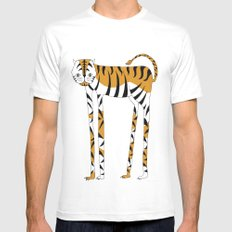 Long legs Tiger White MEDIUM Mens Fitted Tee