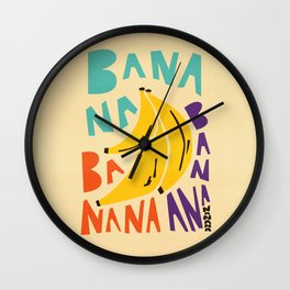 Banana Bananas Wall Clock