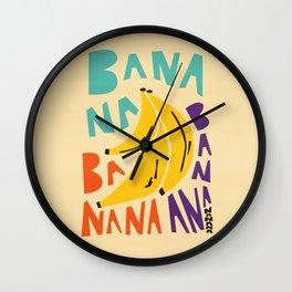 Banana Bananas Wall Clock