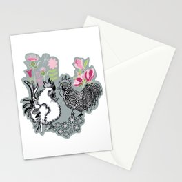 Magnolia Roosters Stationery Cards