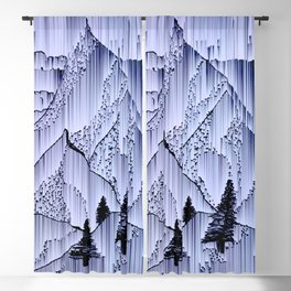 a winter night at the snowed mountains Blackout Curtain