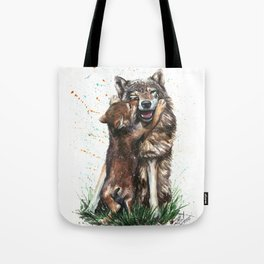 Wolf - Father and Son Tote Bag