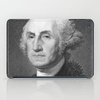 washington iPad Cases featuring George Washington by Palazzo Art Gallery