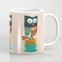 budi Mugs featuring Morning Owl by Picomodi