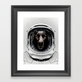 Pluto Astro Dog Framed Art Print