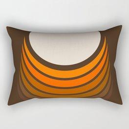 Golden Crescent Rectangular Pillow