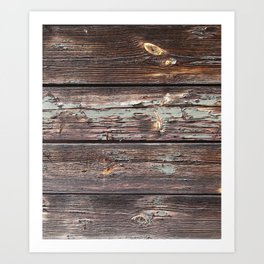 Aged Wood rustic decor Art Print