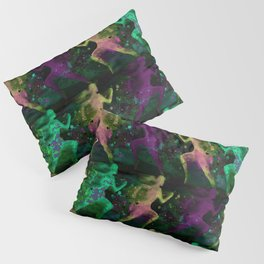 Watercolor women runner pattern on Dark Background Pillow Sham