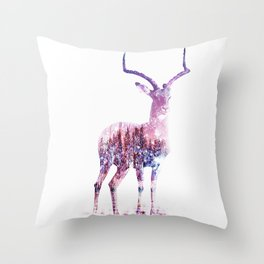 shiny deer Throw Pillow