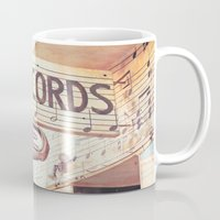 records Mugs featuring Records by JoyHey