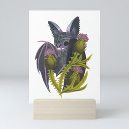 bat & bull thistle Mini Art Print